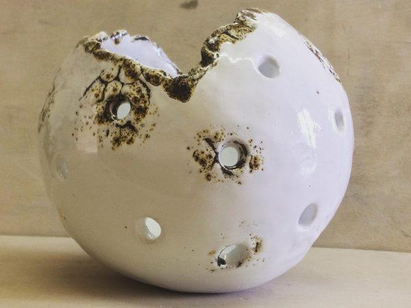 sfera in ceramica smaltata Piccola Luna