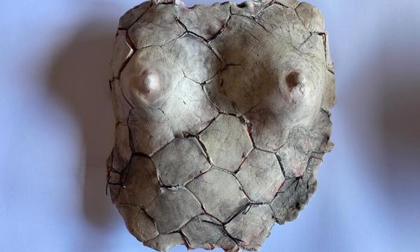 Manuela-Lupino-Continua-Performance-argilla-refrattaria-bianca-e-rete-metallica-scultura-970°