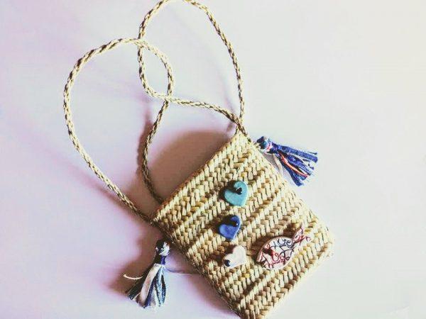 borsa di paglia Mini Miss Mare