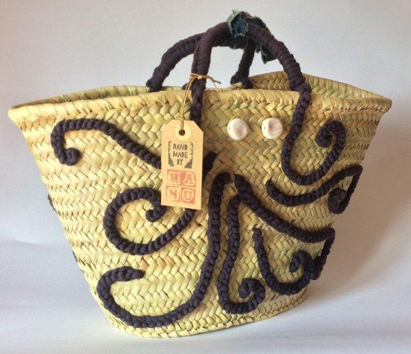 borsa di paglia Miss Polpo