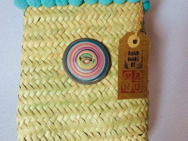 borsa di paglia Mini Miss realizzata e decorata a mano